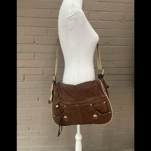 Tommy Hilfiger Brown crossbody messenger bag